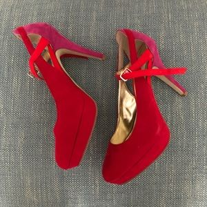 Style & Co Red and Pink Mary Jane High Heel